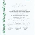 dyplom unznania  od Farmy Zycia dla PKK SI _30_09_17